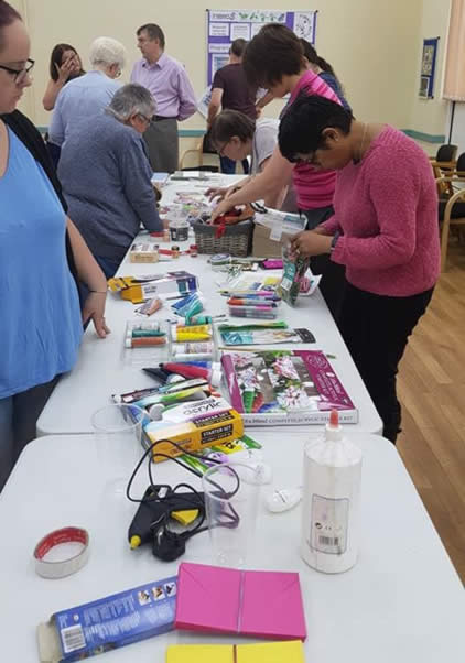 craft session at fibro active long eaton